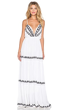 Tularosa White Sands Maxi Dress in White