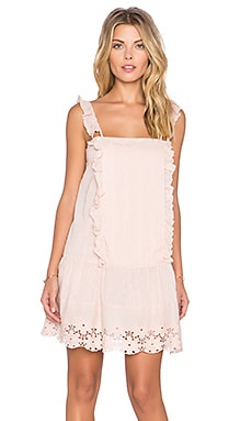Tularosa x REVOLVE Annabel Ruffle Dress in Pale Pink