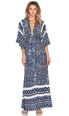 Tularosa x REVOLVE Rosella Maxi Dress in Blue Paisley