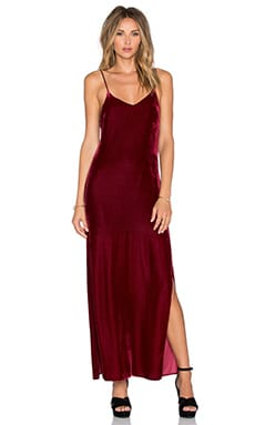 Tularosa Dayton Slip Dress in Wine