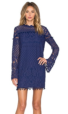 Tularosa Matilda Lace Dress in Navy