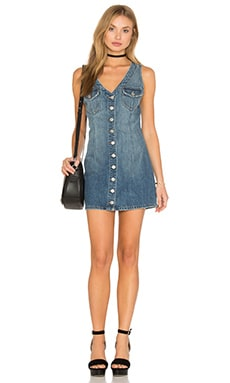 Tularosa Zoe Denim Dress in Sanya