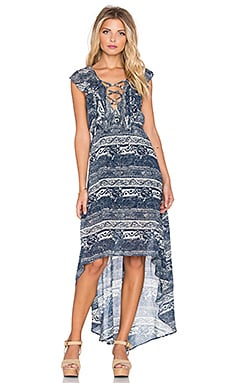 x REVOLVE Nashville Dress in Navy Paisley