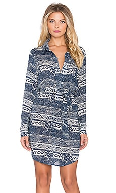 Tularosa x REVOLVE James Shirt Dress in Navy Paisley