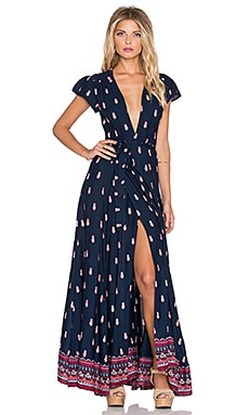 Tularosa Sid Wrap Dress in Navy
