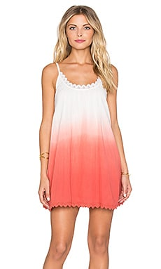 Tularosa Lily Babydoll Dress in Watermelon Ombre