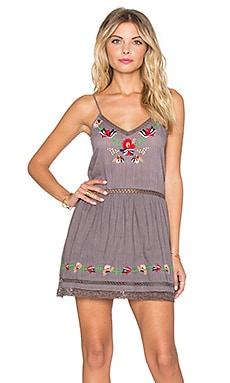 Tularosa Bloom Slip Dress in Medium Grey