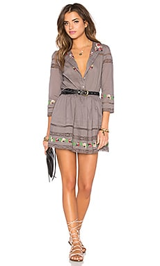 Tularosa Giles Dress in Medium Grey