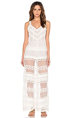Tularosa Ana Maxi Dress in White