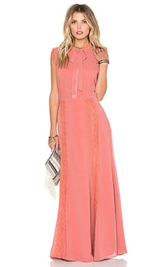 Tularosa Ray Maxi Dress in Peach