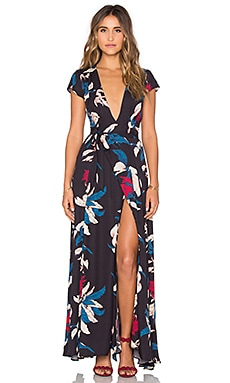 Tularosa Sid Wrap Dress in Tropical Floral