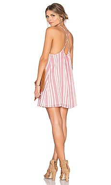 Tularosa x REVOLVE Windsor Mini Dress in Red & White