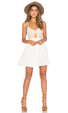 x REVOLVE Bryce Mini Dress in Ivory