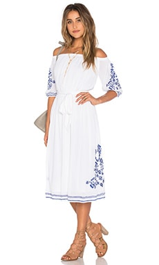 Tularosa x REVOLVE Marty Midi Dress in White