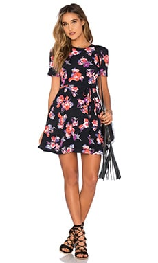 Tularosa x REVOLVE Iris Dress in Black Floral