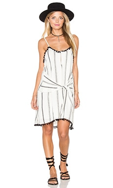 Tularosa Maeve Dress in Ivory Striped Tribal