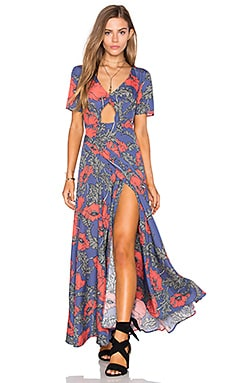 Tularosa Desi Wrap Dress in Peach