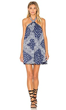 Tularosa x REVOLVE Holden Dress in Navy Scarf