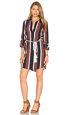 Tularosa James Shirt Dress in 70's Stripe
