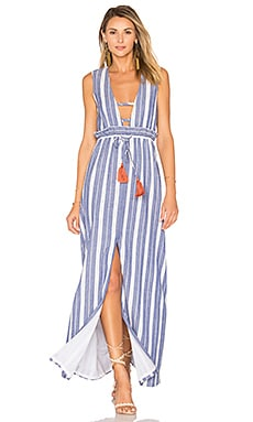 Essie Maxi Dress in Indigo Stripe