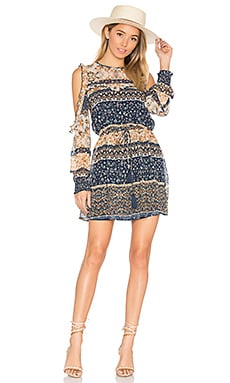 x REVOLVE Sabrina Dress in Multi Floral Stripe