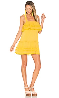 x REVOLVE Chelsea Babydoll Dress in Marigold