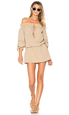 x REVOLVE Falon Dress in Taupe