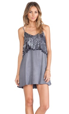 Tularosa Belinda Dress in Grey & Gunmetal