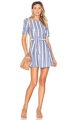 Iris Dress in Indigo Stripe