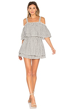 x REVOLVE Bay Dress in Black Stripe