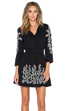 Tularosa Sage Embroidery Dress in Black