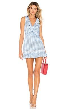 Купить Платье с длинным рукавом eva - Tularosa, Мини, Китай, Нежно-голубой