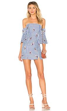 Купить Платье с открытыми плечами marty - Tularosa синего цвета