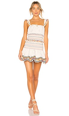 Купить Жатое мини платье janine - Tularosa, Платья с юбкой-солнцеклеш, Индия, Ivory