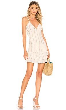 Купить Жатое мини платье jean - Tularosa, Платья с юбкой-солнцеклеш, Индия, Rose