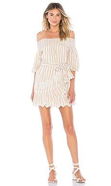 Фото - Мини-платье с открытыми плечами maida - Tularosa цвет беж