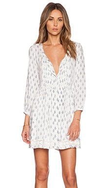 Tularosa Kennedy Dress in White & Navy