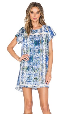 Tularosa Aurora Dress in Blue Multi