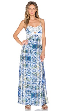 Tularosa Carolina Dress in Blue Multi