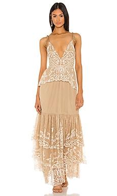 Макси платье без рукавов geonna - Tularosa Богемный стиль фото