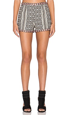 Tularosa Bryce Jacquard Short in Natural & Black