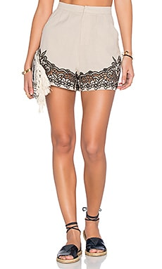 Geneva Short en Putty & Onyx