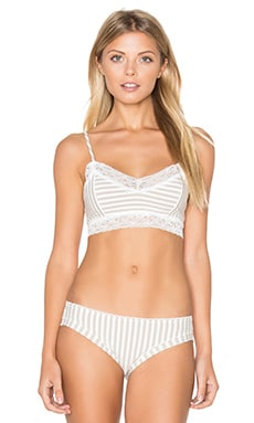 Evie Bra in Oatmeal Stripe