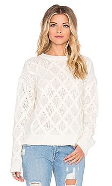 Tularosa x REVOLVE Lisbon Cross Hatch Sweater in Ivory