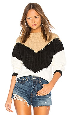 Colorblock Sweater Tularosa $128 BEST SELLER