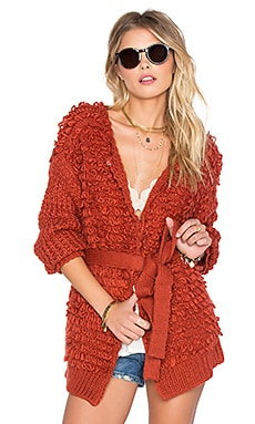 Tularosa Vaughn Wrap Sweater in Rust