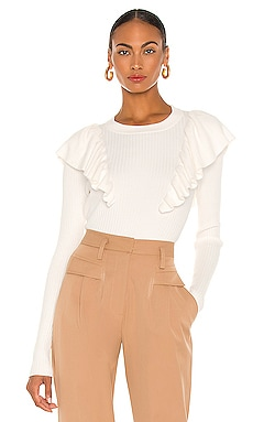 Charlie Oversized Ruffle Sweater Tularosa $168 NEW