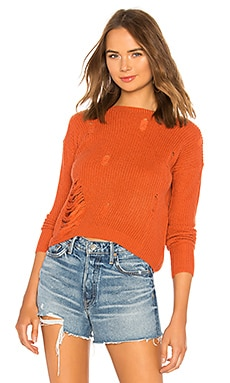 Distressed Crew Neck Sweater Tularosa $41