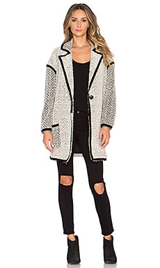 Tularosa Dre Oversized Knit Coat in Cream