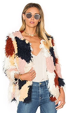 Tularosa Pfeiffer Faux Fur Coat in Multi